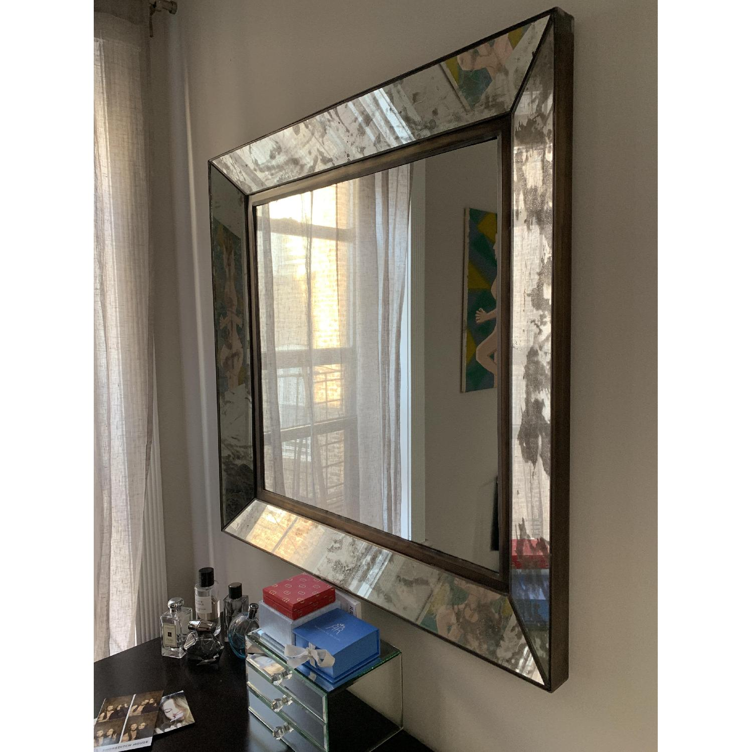 Crate & Barrel Dubois Large Square Wall Mirror-1