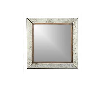 Crate & Barrel Dubois Large Square Wall Mirror