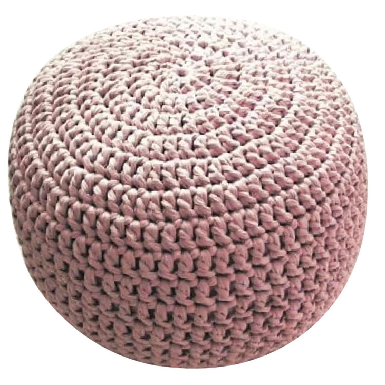 Etsy Pale Pink & Lavender Poufs