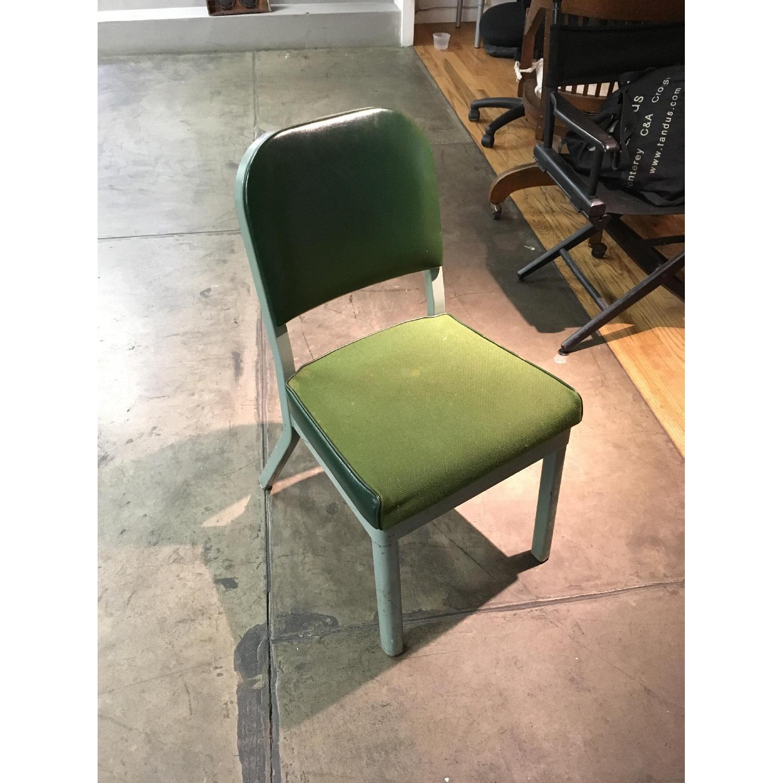 Vintage Harter Industrial Green Side Desk Chair-0