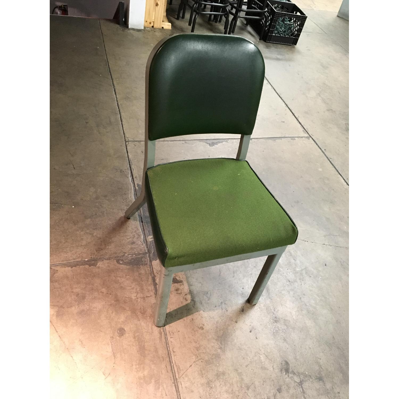 Vintage Harter Industrial Green Side Desk Chair-1
