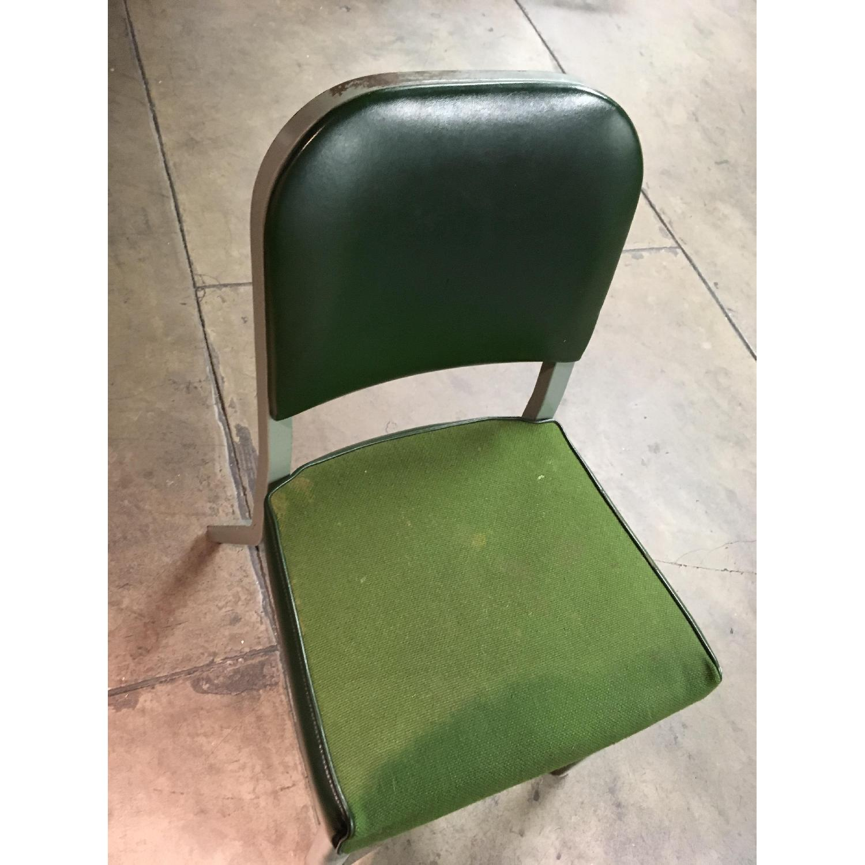 Vintage Harter Industrial Green Side Desk Chair-2