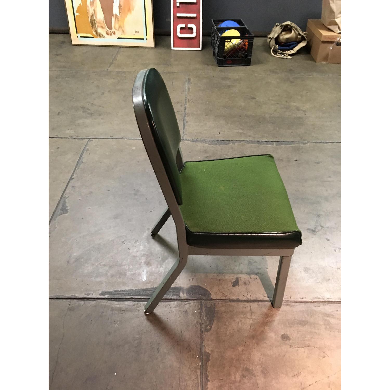 Vintage Harter Industrial Green Side Desk Chair-3