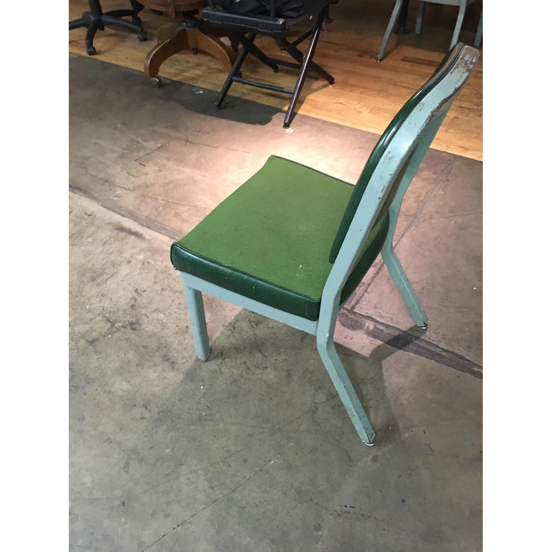 Vintage Harter Industrial Green Side Desk Chair-5