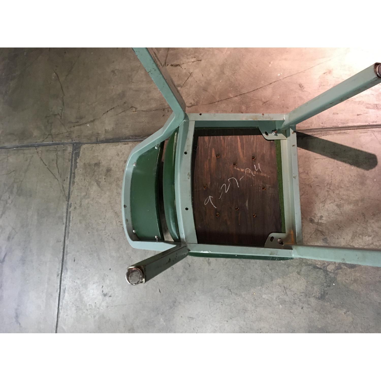 Vintage Harter Industrial Green Side Desk Chair-6