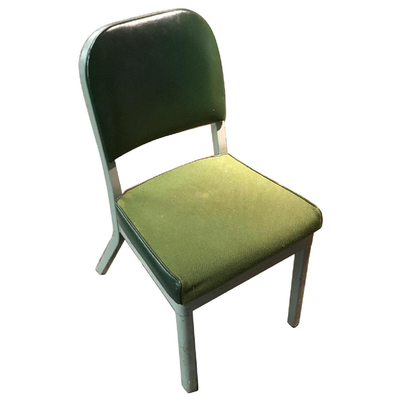 Vintage Harter Industrial Green Side Desk Chair