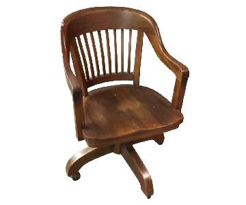 Vintage Walnut Library Chair
