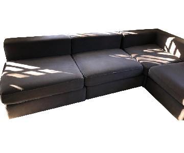 West Elm L Shaped 4-Piece Sectional Sofa