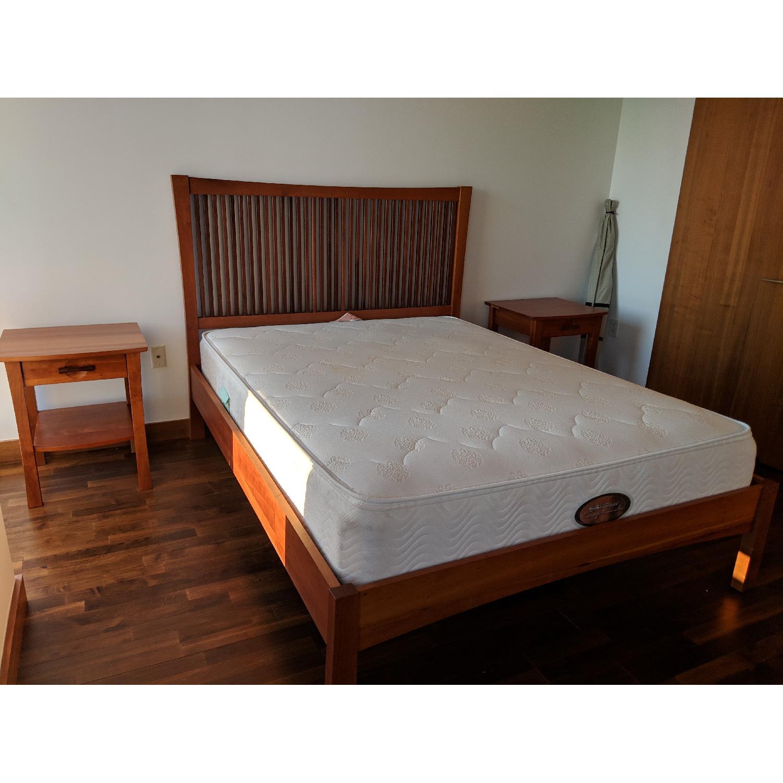 Copeland Berkeley Cherry Wood Queen Bed Aptdeco