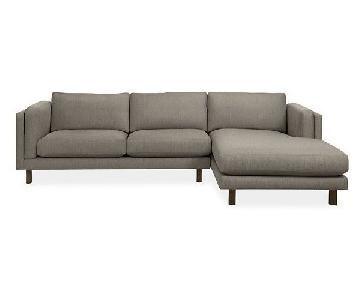 Room & Board Holden Custom Sectional Sofa w/ Right Chaise