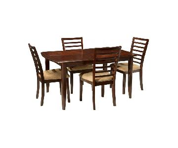 Raymour & Flanigan Dark Brown 5-Piece Dining Set