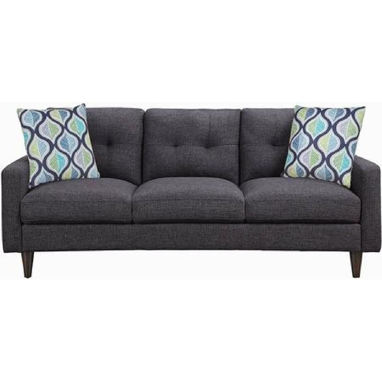 Grey Sofa w/ Retro Legs