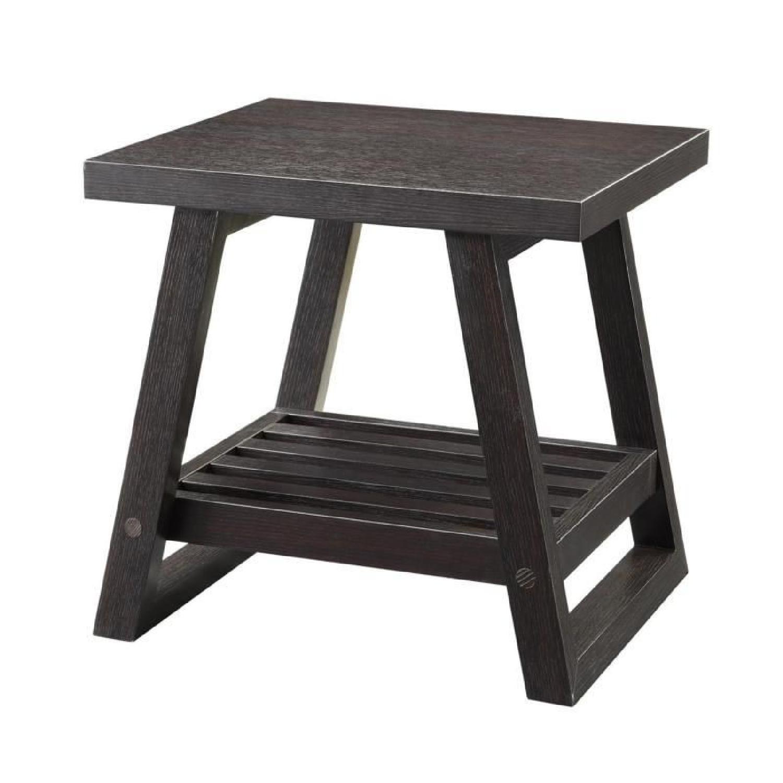 City Dark Wood End Table