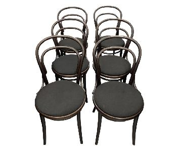 Design Within Reach Era Dining Chairs in Brown w/ Black Seat