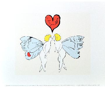 Andy Warhol Framed Print - I Love You So