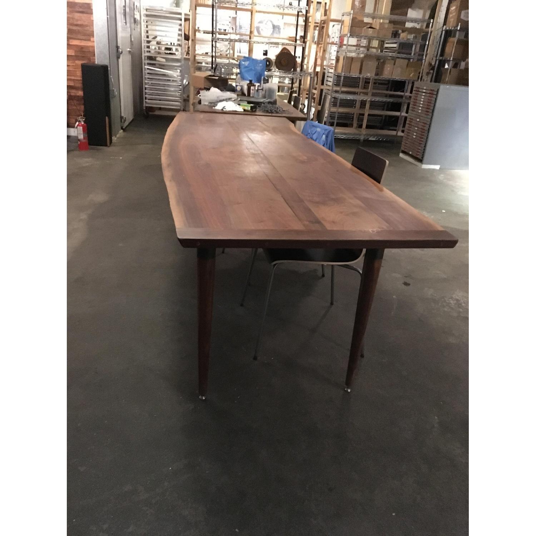 Long Custom Made Walnut Slab Dining Table-0