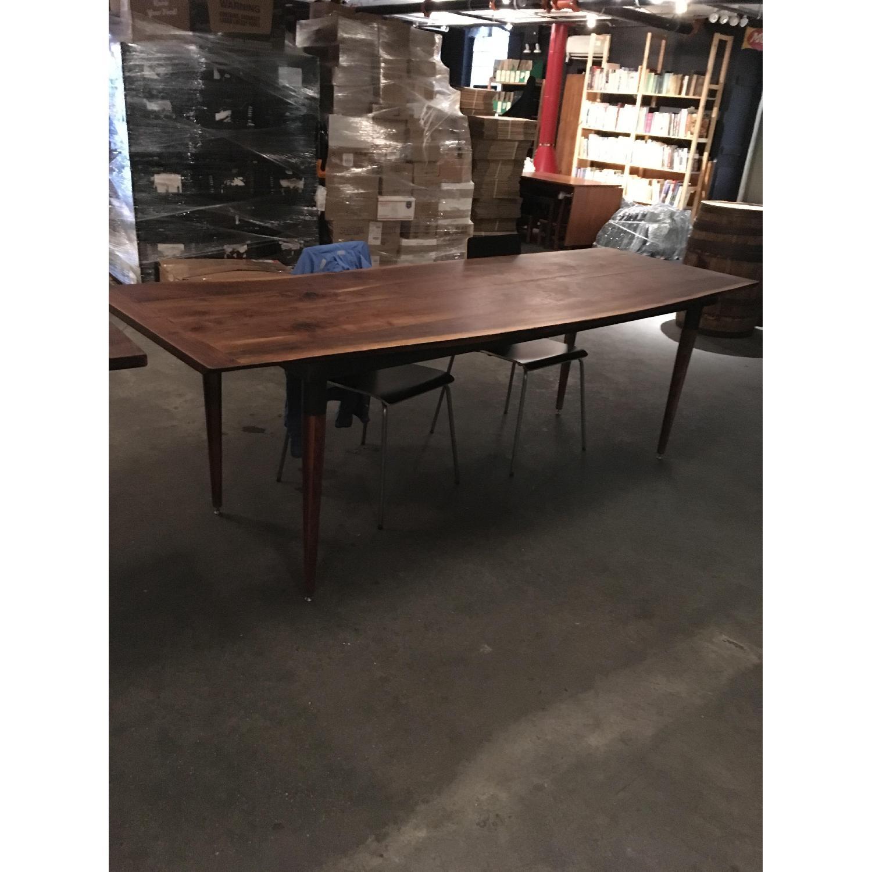 Long Custom Made Walnut Slab Dining Table-1