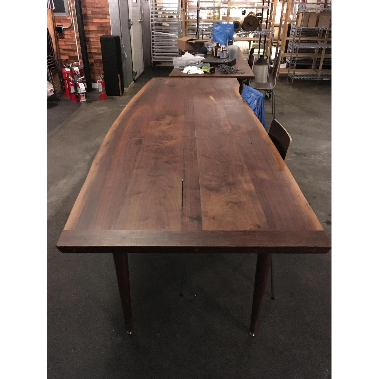 Long Custom Made Walnut Slab Dining Table-2