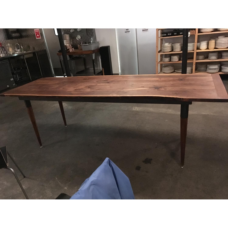 Long Custom Made Walnut Slab Dining Table-3