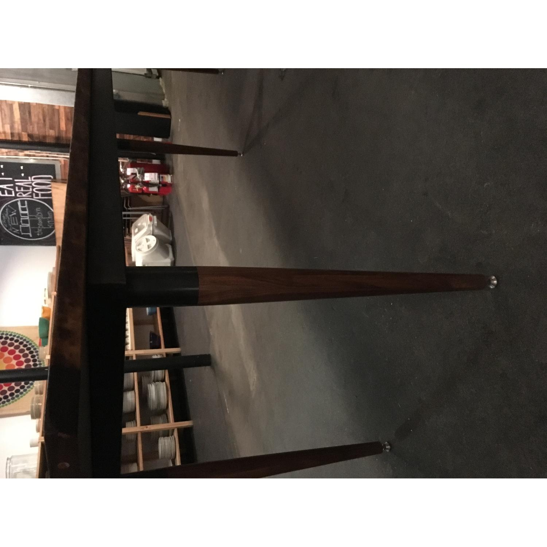 Long Custom Made Walnut Slab Dining Table-5