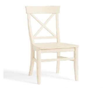Pottery Barn Vintage White Side Chair