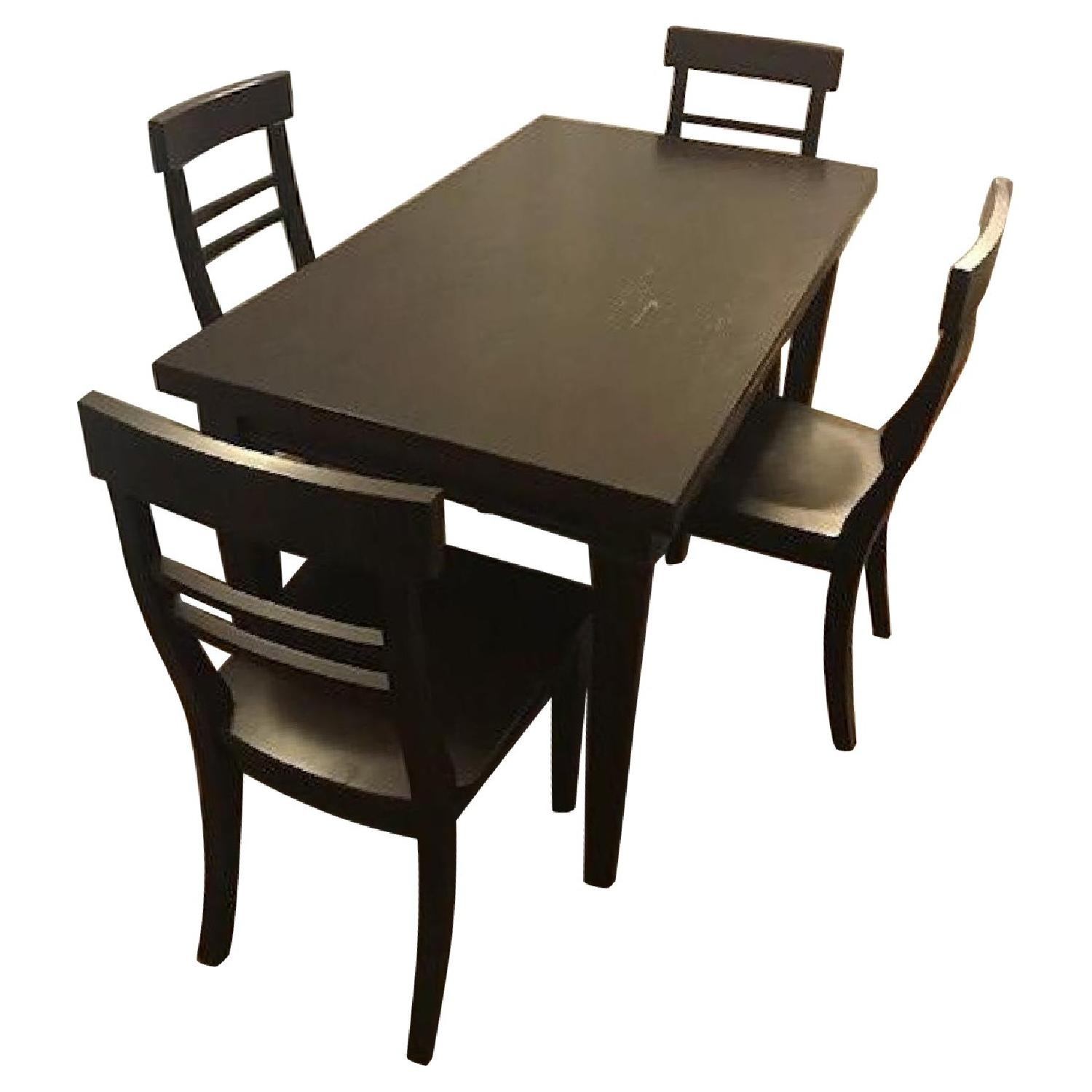 Crate & Barrel Cabria Dining Table w/ 4 Chairs