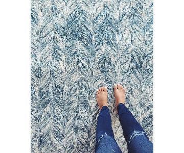 West Elm Vines Wool Rug in Blue Lagoon