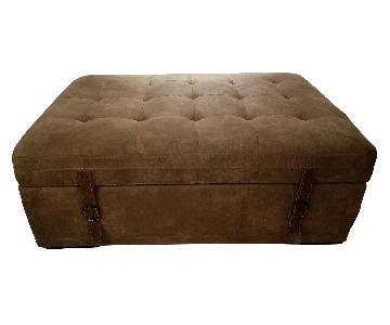 Swede Storage Ottoman in Brown Taupe