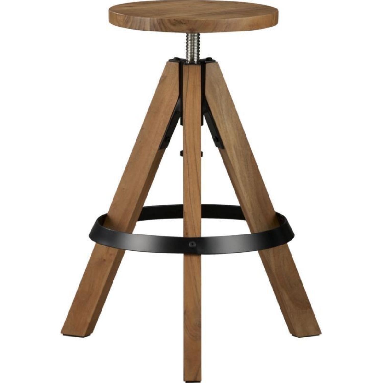 CB2 Rig Adjustable Barstools