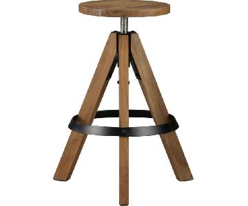 CB2 Rig Adjustable Barstools