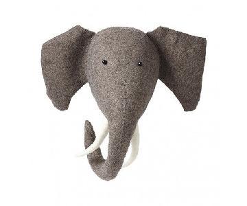 Fiona Walker England Felt Animal Head - Elephant with Tusks