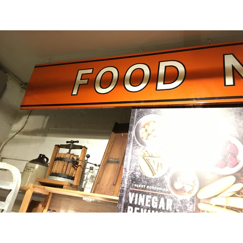 Large Metal 1940s Food Market Sign-1