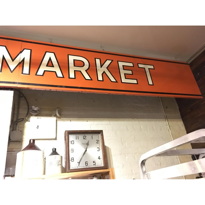 Large Metal 1940s Food Market Sign-2