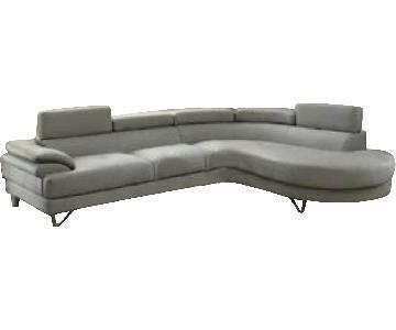 Orren Ellis Grey 2-Piece Sectional Sofa