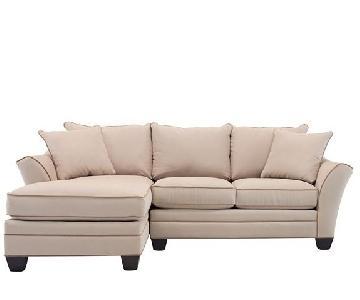 Raymour & Flanigan Microfiber 2-Piece Sectional Sofa