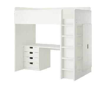 Ikea Stuva Loft Bed w/ Desk & Shelves