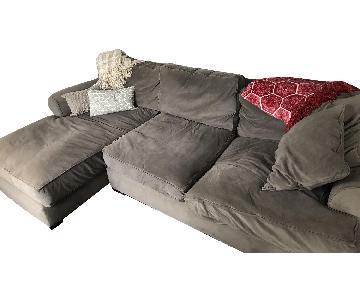 Jonathan Louis Gray 2-Piece Sectional Sofa w/ Chaise