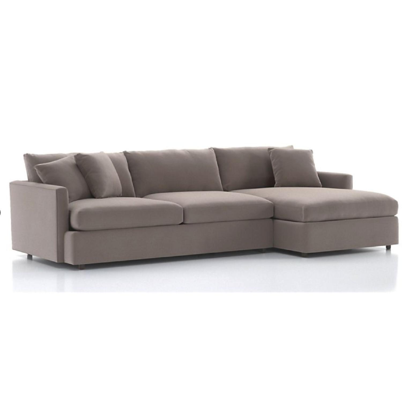 Crate & Barrel Lounge II 2-Piece Sectional Sofa