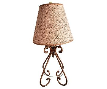 Distressed Gold Lamp