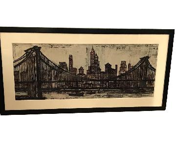 Bernard Buffet Bridges Charcoal Prints