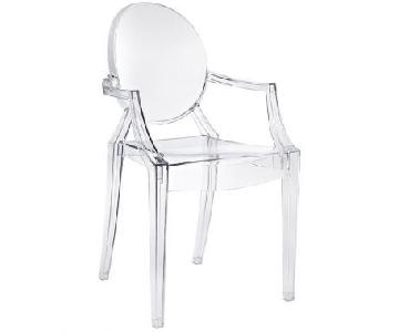 Kartell Philippe Starck Louis Ghost Armchairs