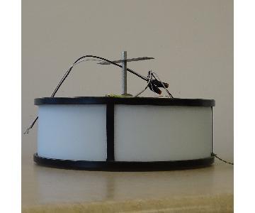 Feiss Preston 3-Light Indoor Flush Mount in Heritage Bronze