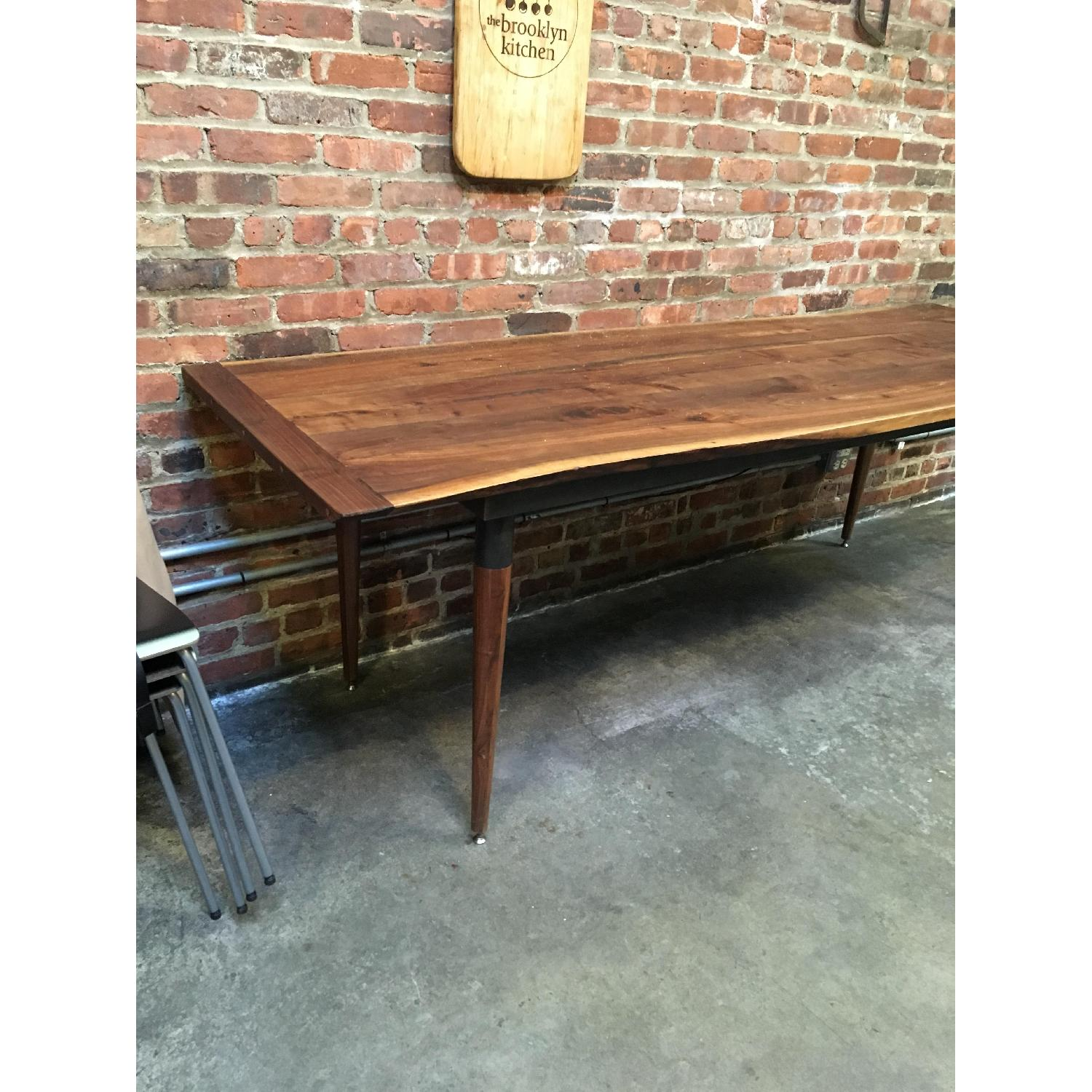 Custom Made Live Edge Walnut Dining Conference Table-1