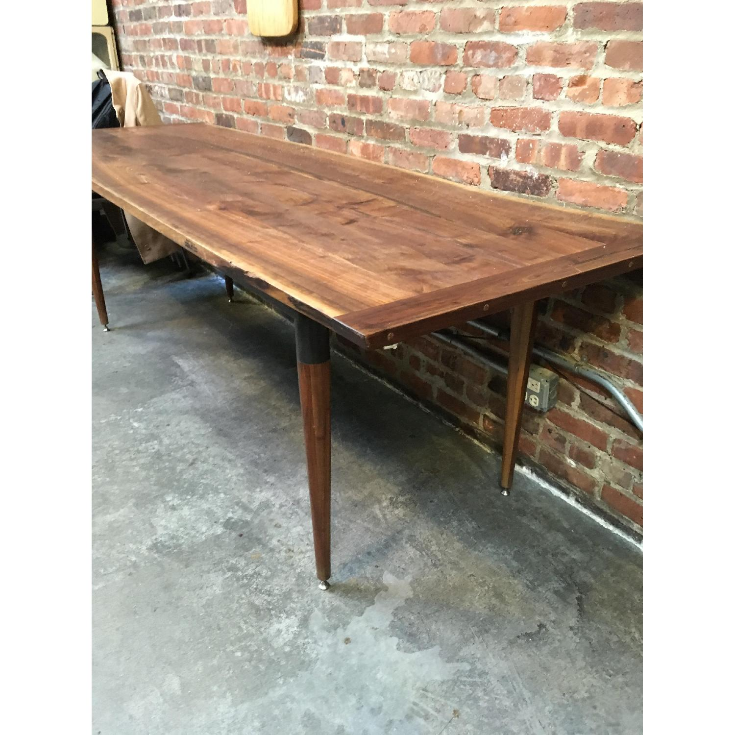 Custom Made Live Edge Walnut Dining Conference Table-2