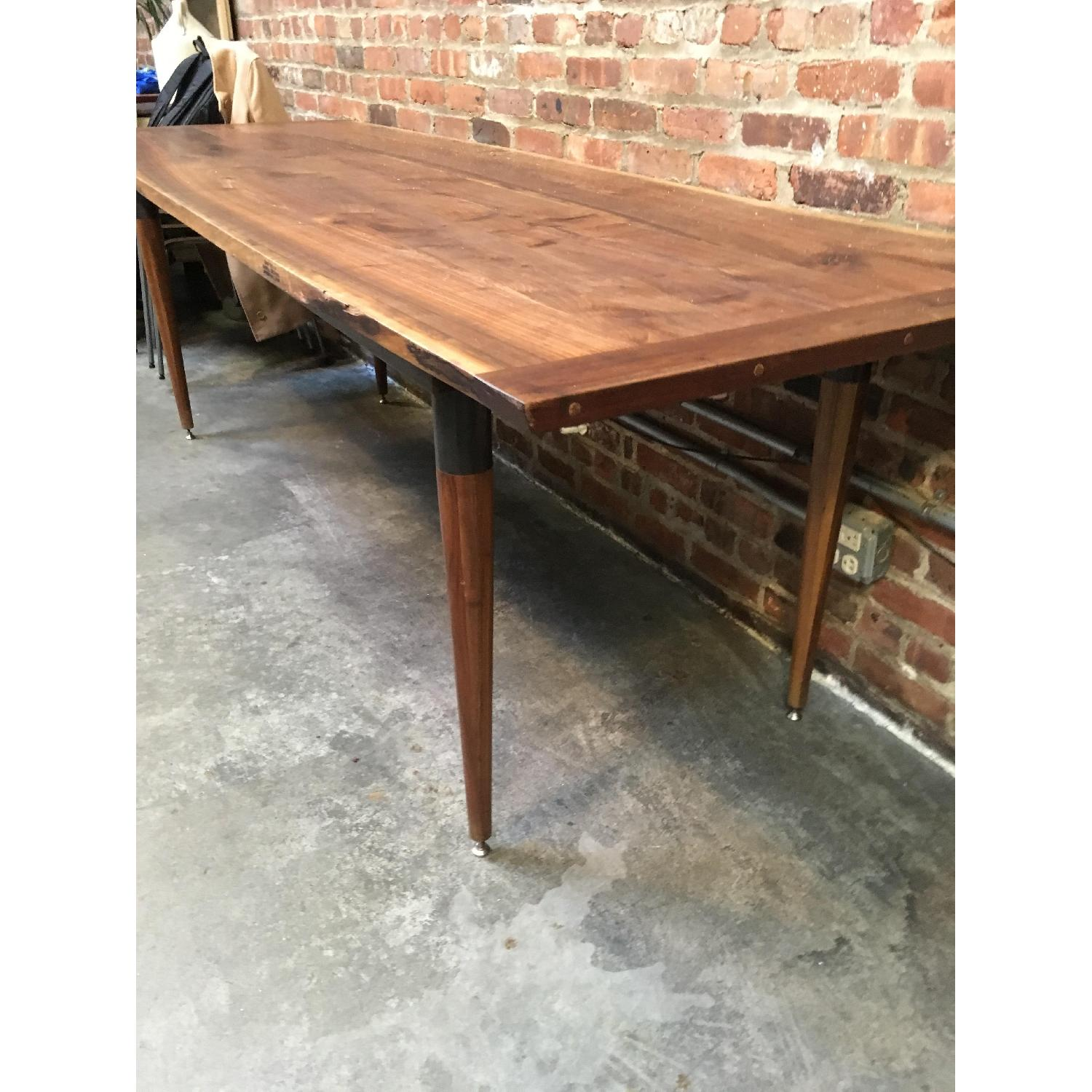 Custom Made Live Edge Walnut Dining Conference Table-4