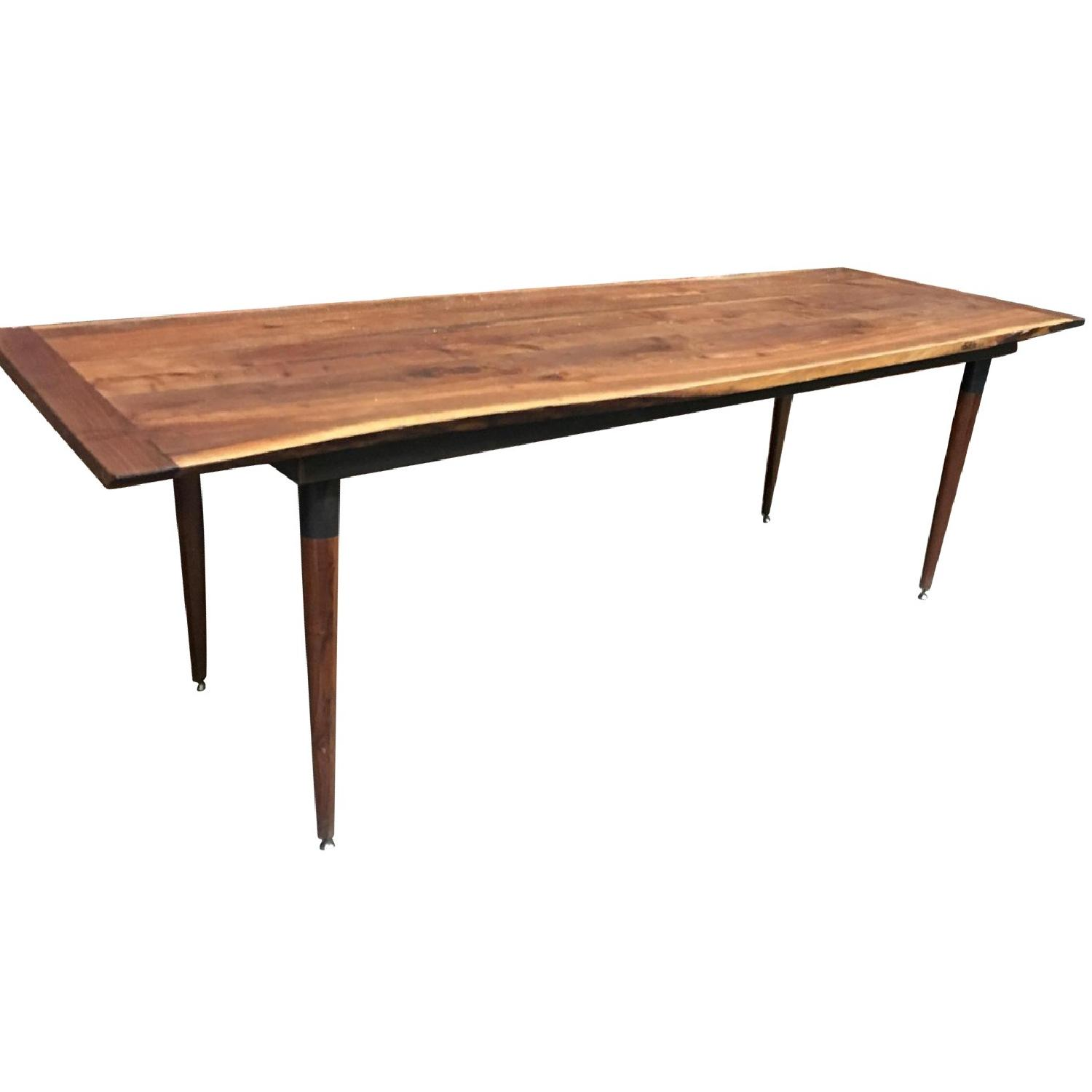 Custom Made Live Edge Walnut Dining Conference Table