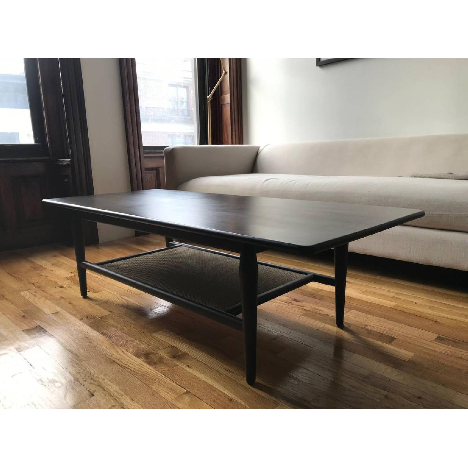 Room & Board Dark Brown Wood Coffee Table-0