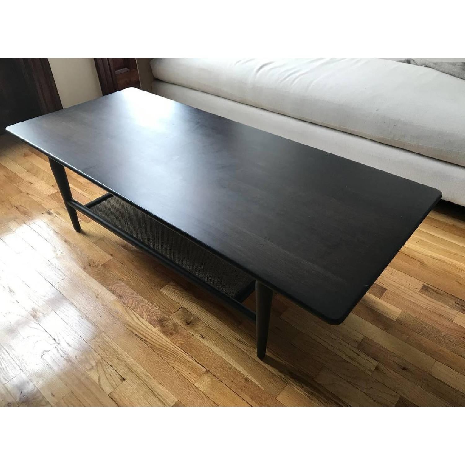 Room & Board Dark Brown Wood Coffee Table-1