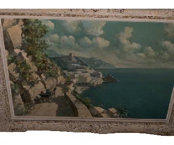 Vintage Capri Italian Landscape Original Oil - Ferruccio