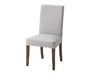 Ikea Henriksdal Light Gray Dining Chairs